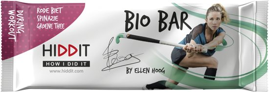 Ellen Hoog Bio Bar - Rode biet/Spinazie/Groene thee - 12st.