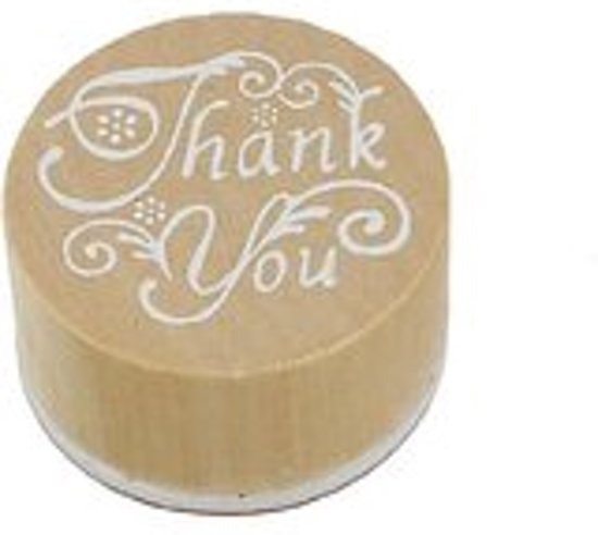 Bolcom Stempel Thank You Hout Rond 3 Cm Speelgoed