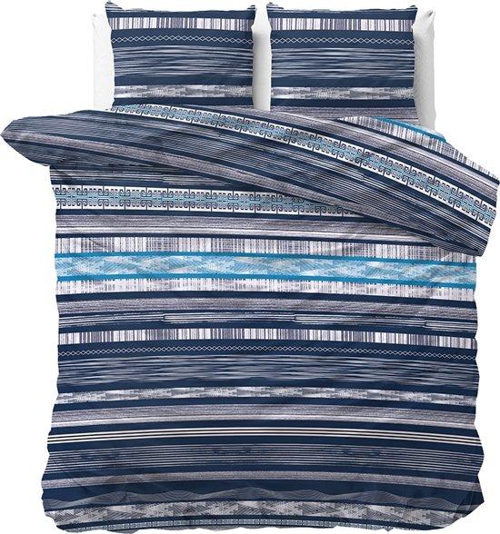 Sleeptime Quincy - Dekbedovertrekset - Tweepersoons - 200x200/220 + 2 kussenslopen 60x70 - Blauw