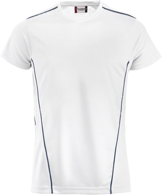 Ice Sport-T polyester 150 g/m² wit/navy m