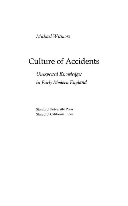 Culture of Accidents