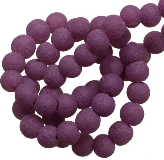 Glaskralen Pumice (4 mm) Grape (100 Stuks)