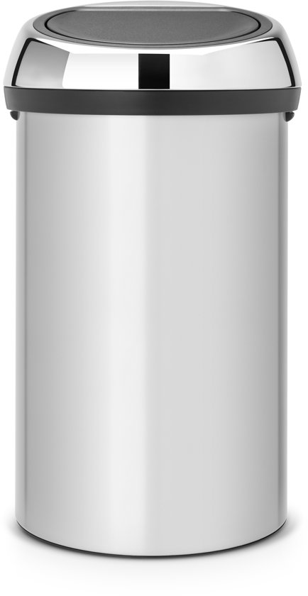 Brabantia Touch Bin 60 Liter Metallic Grey
