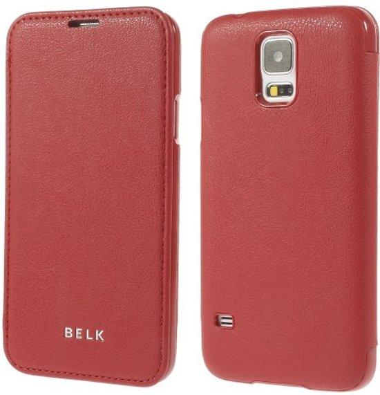 Belk Smart case cover hoesje echt leder Samsung Galaxy S5 rood