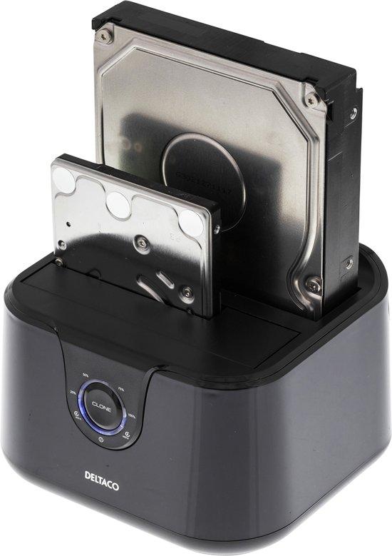 """Deltaco MAP-GD35U3 USB 3.0 Dual Docking station voor 2.5"""" en 3.5"""" SATA schijven"""