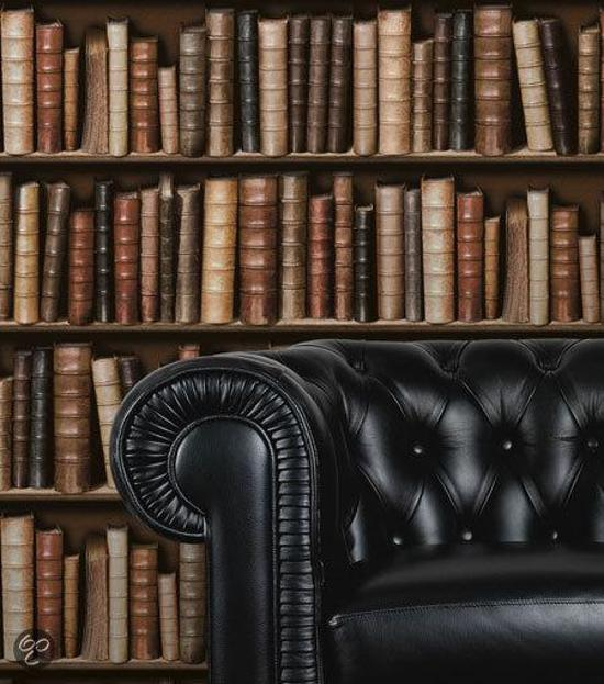 bol.com | Dutch Wallcoverings - Schuimvinyl boekenkast