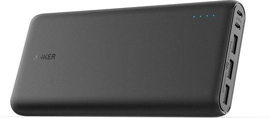 Anker Powerbank Powercore 26800mAh 3-Poort USB  Output 6A, Max 3A per poort  Zwart