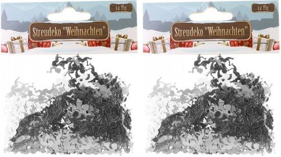 Confetti zilveren engeltjes 30 gram - Kerstversieringen engel confetti zilver