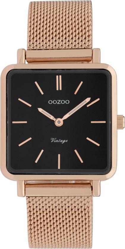 OOZOO Vintage C9848 Rosékleurig Zwart 29x29mm