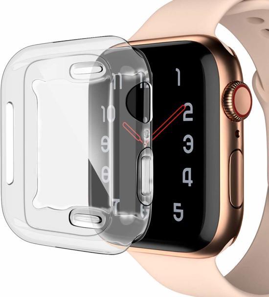 Apple Watch Series 5 (44 mm) Hoesje + Screenprotector - Siliconen TPU Case Transparant voor Volledige 360 Graden Bescherming - iCall