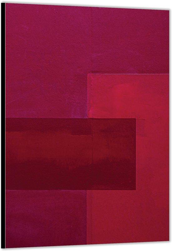 Dibond –Roze Vlakken– 40x60cm Foto op Aluminium (Wanddecoratie van metaal)