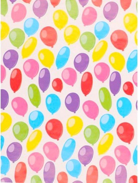 Iets Nieuws bol.com | Inpakpapier ballonnen 200 x 70 cmop rol &JI37