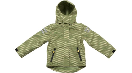 Ducksday regenjas met uitritsbare fleece unisex Funky green