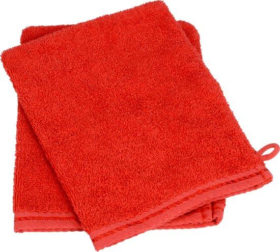 ARTG Towelzz® Washandje 100% Katoen - Fire Red - (Set 10 stuks)