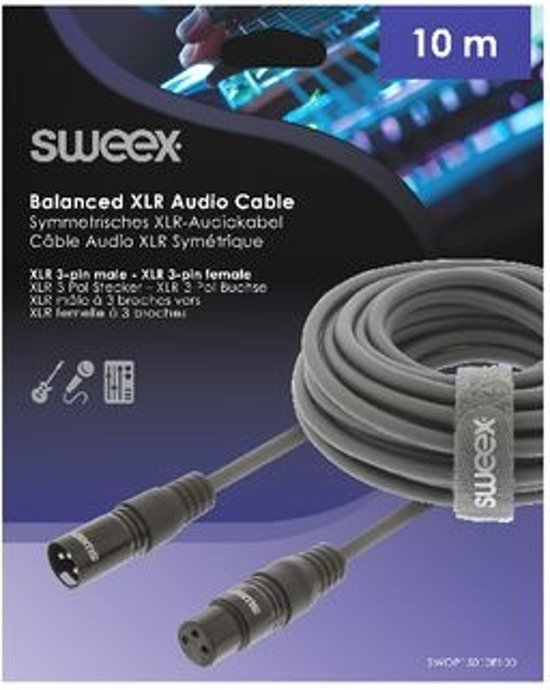 Sweex XLR Male - XLR Female 10 Meter