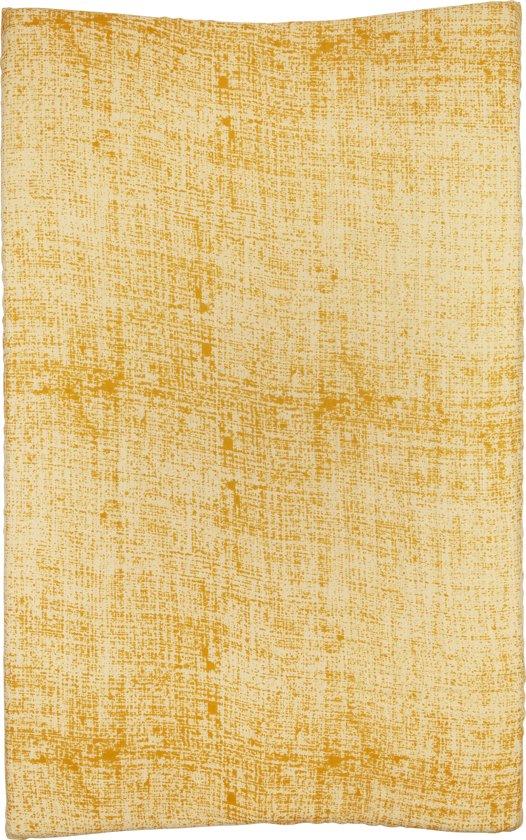 Meyco hydrofiel aankleedkussenhoes Fine lines - okergeel/geel