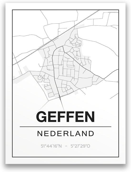 Poster/plattegrond GEFFEN - A4