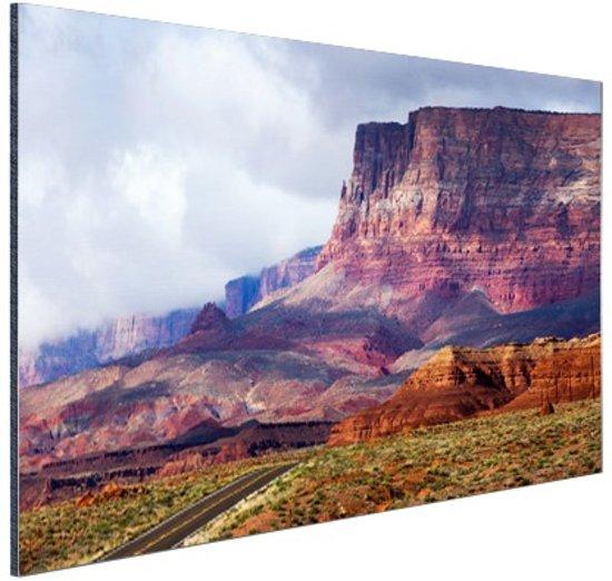 FotoCadeau.nl - Woestijnlandschap Amerika Aluminium 90x60 cm - Foto print op Aluminium (metaal wanddecoratie)