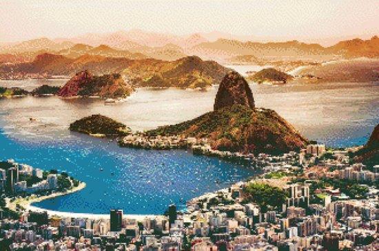 MyHobby Borduurpakket –  Rio de Janeiro 60×40 cm - Aida 5,5 steken/cm - 100% katoen