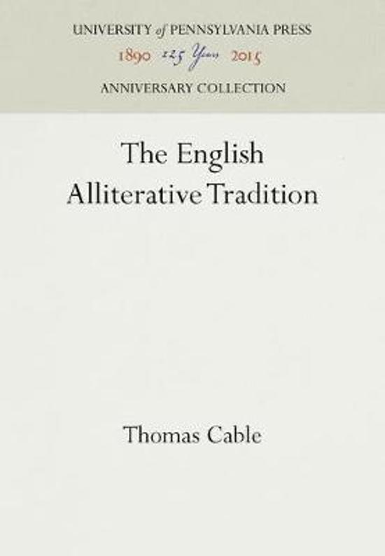 The English Alliterative Tradition