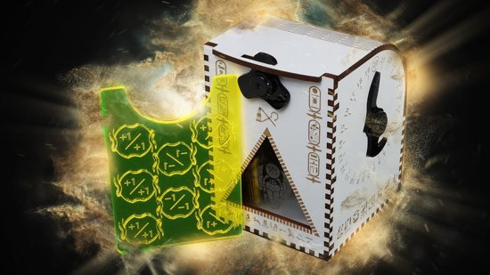 Wooden Exclusive Deck Box: Egyptian MTG themed Hour of Devastion