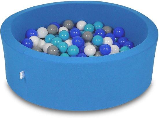 Ballenbak - 200 ballen - 90 x 30 cm - ballenbad - rond blauw