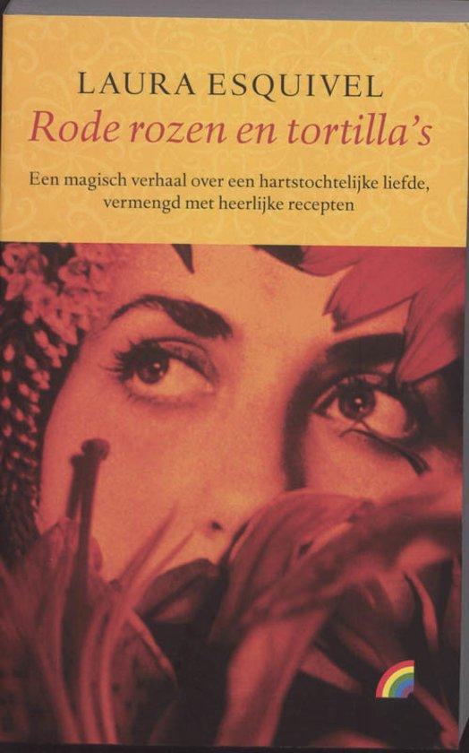 Boek cover Rode rozen en tortillas van Laura Esquivel (Onbekend)