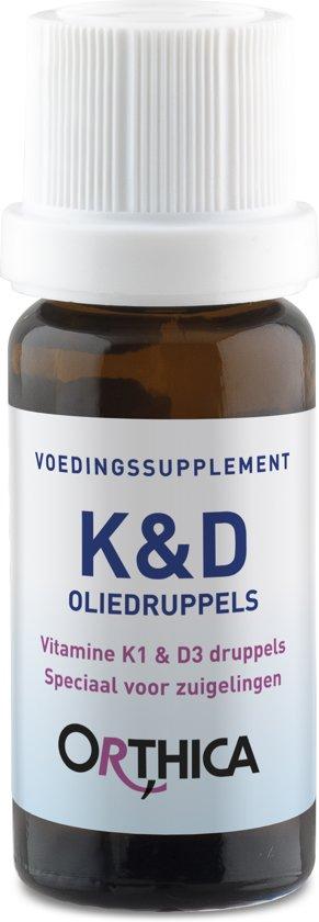 Orthica K&D Oliedruppels voor Zuigelingen Voedingssupplementen - 10 ml