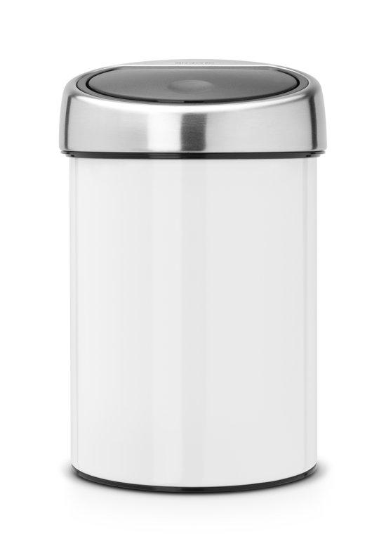 Brabantia Touch Bin 30 Liter Wit.Brabantia Touch Bin Prullenbak 3 L Wit