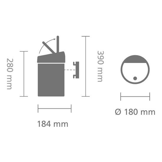 Brabantia Touch Bin 3 Liter Wit