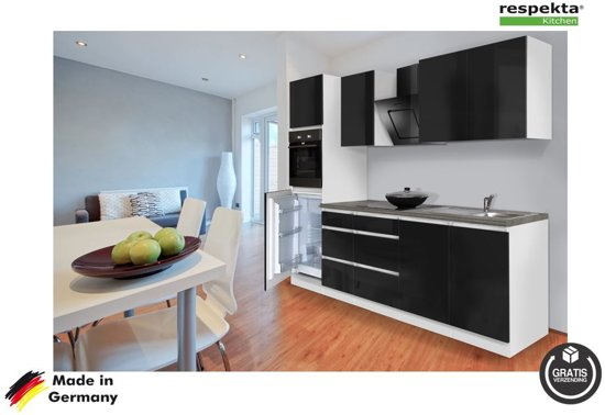 Keuken Wandkast 7 : Bol.com respekta® rechte keuken york compleet incl. apparatuur