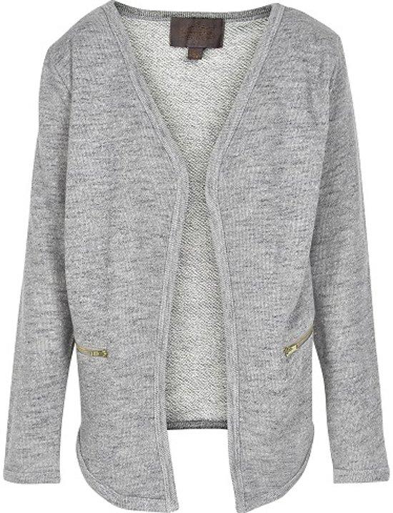 Creamie - mesjes vest - model Heba - light grey melange - Maat 104