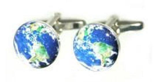 Manchetknopen Planeet Aarde