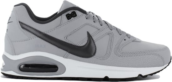 Nike Air Max Command Leather Sneakers Heren Wolf GreyMtlc Dark Grey Black