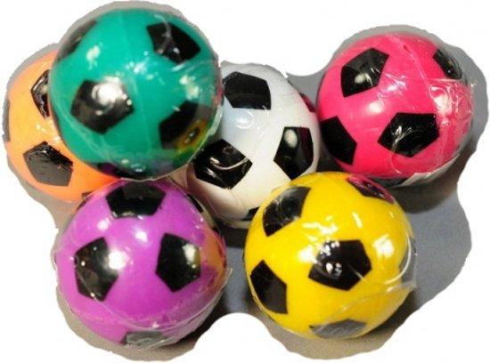 Stuiterbal gekleurde voetbal 3 cm Oranje