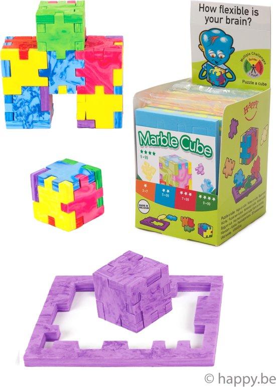 Afbeelding van het spel HAPPY Marble Cube Display - 12 kubus puzzels
