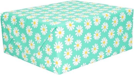 Tremendous Inpakpapier Cadeaupapier Mint Groen Met Bloemen 200 X 70 Cm Rol Kadopapier Geschenkpapier Gmtry Best Dining Table And Chair Ideas Images Gmtryco