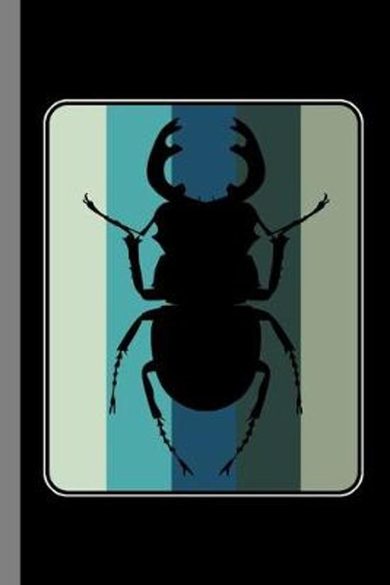 Beetle Vintage: Entomology Gift For Bug Collectors (6''x9'') Dot Grid Notebook To Write In
