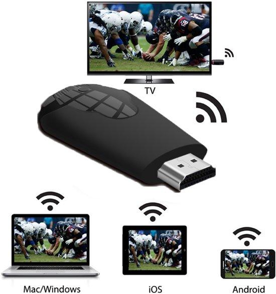 TV Stick 1080P Draadloos WiFi Display TV Dongle-ontvanger voor Airplay HDMI DLNA Miracast-smartphone | Zwart