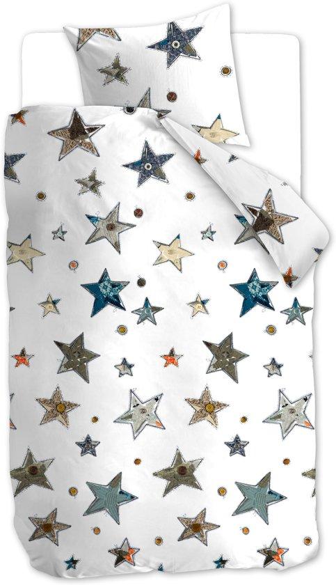 Beddinghouse Kids Lots of Stars Dekbedovertrek - Blauw Grijs 140x200/220