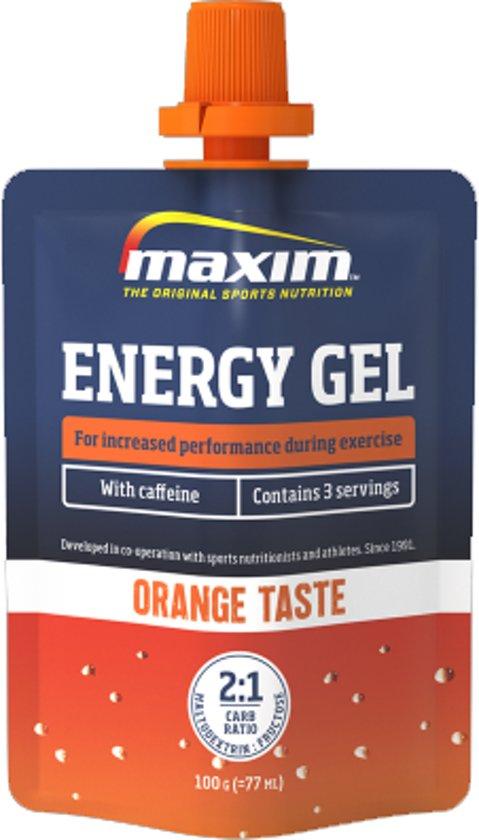 12x Maxim Energy Gel Orange met Cafeïne 100g