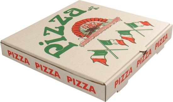 Pizzadoos, Vegetale, Golfkarton, 32x32x3cm, wit
