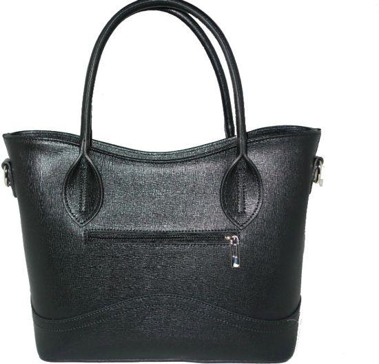 Handtas - leer - zwart - model Pesaro