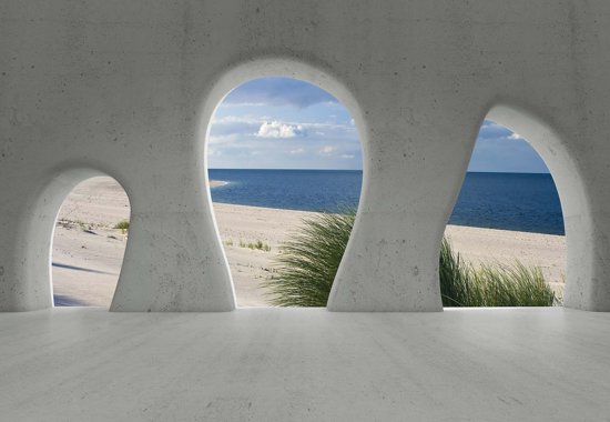 Fotobehang Beach View Modern | XL - 208cm x 146cm | 130g/m2 Vlies