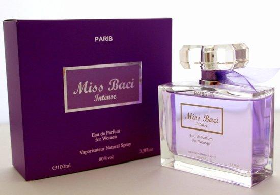 Miss Baci Intense duurzame Dames Parfum ( Een fruitige zoete geur)