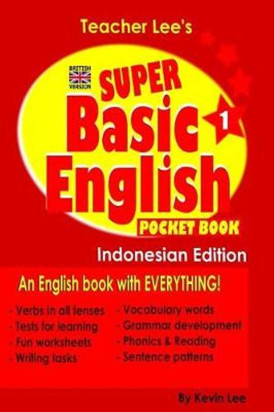 Teacher Lee's Super Basic English 1 Pocket Book - Indonesian Edition (British Version)