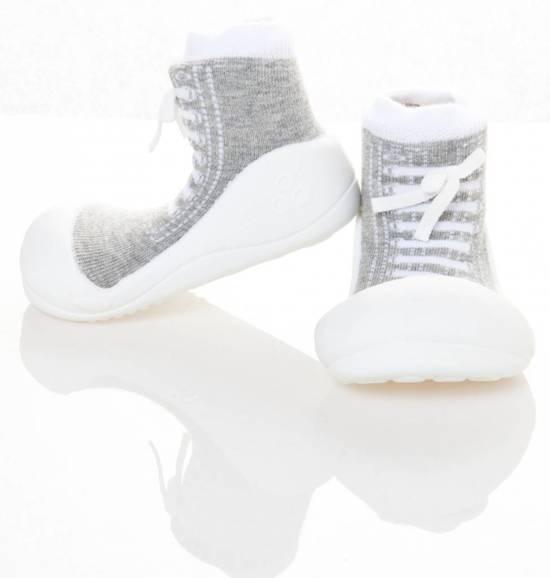 Attipas babyschoentjes Sneakers grijs Maat: 21,5 (12,5 cm)  Babyschoenen voor 12-24 maanden