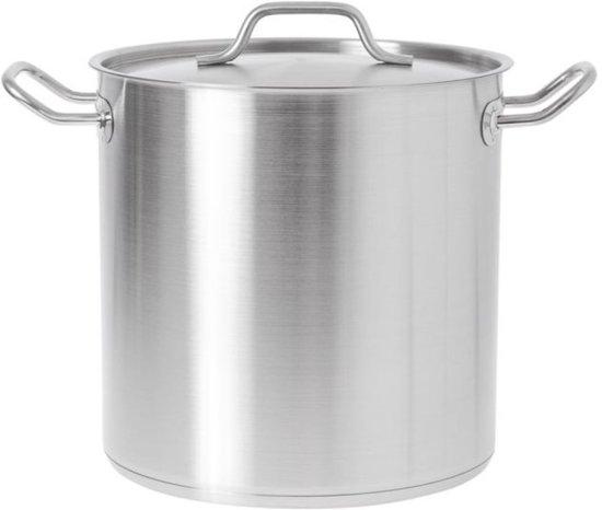 RVS kookpan 25 liter met dubbele bodem