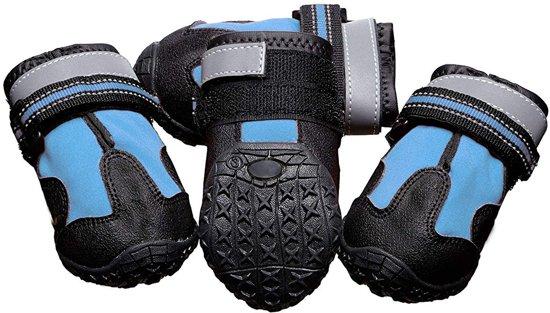 Eyzo Hondenschoenen 4 stuks - Blauw - Maat Schoen S / M - 5,71cm breed