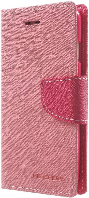 Mercury Goospery - iPhone 7 Hoesje - Wallet Case Grain Roze in Eibergen